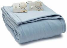 NEW Biddeford Blankets Comfort Knit Heated Blanket - Queen Blue FREE SHIPPING