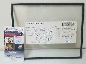 Jason Seahorn SIGNED Airline Boarding Pass Ticket Autograph AUTO JSA COA🏈✈️