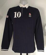 England Rugby Bleu marine L/S Matelassée Rugby Jersey Par Eden Park taille homme Medium NEUF