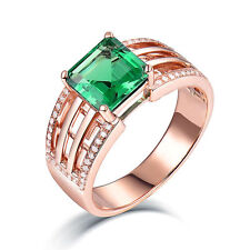18ct Rose Gold Ring with Natural Diamonds and Zambian Emerald GBP 12000