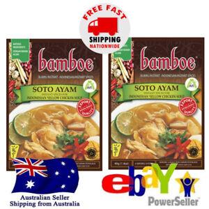 2x Bamboe Soto Ayam Oriental Instant Seasoning Yellow Chicken Soup 40g Halal