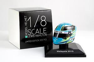 Spark 1/8 Scale Lewis Hamilton Mercedes AMG Petronas 2015 Helmet Malaysia 1