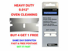 "100 PERSONNA 61-0121 SINGLE EDGE RAZOR SCRAPER BLADES 0.012"" - For Oven Cleaning"
