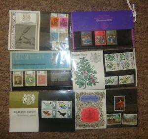 BRITISH FLORA  PAINTERS PAINTINGS BIRDS  DICKENS 6 x  Mint Presentation Packs