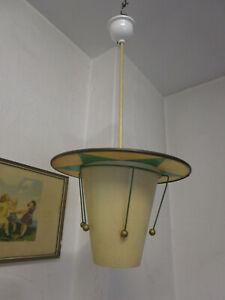 Orig. 30er J. Lampe Hängelampe Deckenlampe Stableuchte Bakelit OHD Dresden Stern