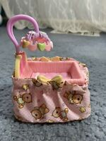 Fisher Price Loving Family Dollhouse Pink Baby Girl Doll Crib Mobile Nursery
