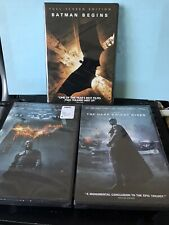 Batman Begins, The Dark Knight Rises Trilogy DVD Disc Collection 3 Movies NEW