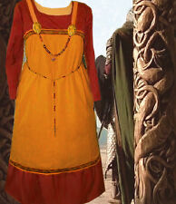 Norse SCA Garb Viking Costume Medieval HoneyLINENbld RustCotton Apron Kirtle LXL