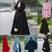 Damenmode Jacken Mantel Hooded Long Coat Jacket Overcoat Winter Windjacke M L XL