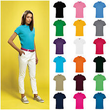 Womens 100% Ringspun Combed Cotton Short Sleeve Polo Shirt 30 Colours XS – XL