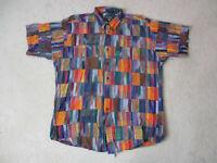 VINTAGE Ralph Lauren Chaps Button Up Shirt Adult Extra Large Patchwork Mens 90s