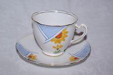 Vintage Art Deco Handpainted Bone China Tea Cup & Saucer Chapmans Longton