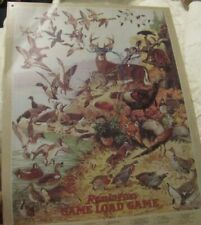 Remington Game Loads with Wild Game List Decorative Metal Tin Sign