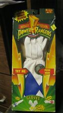 1994 mighty morphin power rangers gloves, blue, NOS, free shipping