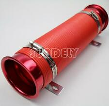 "75mm Pure  Hose Forced Induction 3"" Pipe for Cold Duct Air Feed With Ends Red"