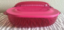 Tupperware Acrylic Tupperware Microwave Oval food server, Steamer Pink New