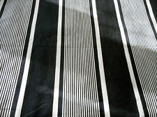 Antique French Wide Stripe Deep Indigo Midnight Blue Cotton Ticking Fabric ~
