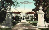 Newport RI Main Entrance Dr. Jacob Residence Narragansett Avenue 1900's Postcard