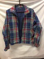 VTG Men's 90's Nautica Full-Zip 100% Cotton Reversible Jacket Size L VINTAGE HIP