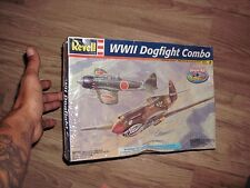 DOGFIGHT Combo Mitsubishi A6M5 Zero-Sen WWII P-40B TIGER SHARK MODEL KIT 1:48