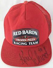 Vintage Red Baron Frozen Pizza Racing Team SIGNED KEN SCHRADER Snapback Hat Cap