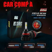 Stark NS 80W 9000LM Fanless LED Kit White 6K Headlight Bulbs Hi Lo 9007 HB5 (A)