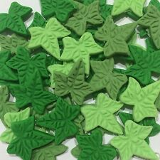 Edible Ivy Leaves Cake, Cup Cake Decorating Toppers x 30 Mix Green