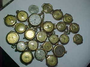 Vintage LOT OF 23 GOLD FILLED antique pre 1930 watchES LQQK LOT 2