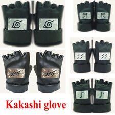 Naruto Kakashi Hatake Gloves Ninja half finger leather glove Anime Cosplay Gift