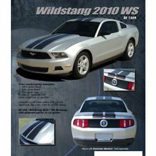 Ford Mustang 2010-2012 Wildstang Dual Stripe Graphic Kit - Metallic Silver