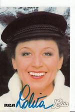 Lolita Autogrammkarte 80er Jahre Original Signiert +22490