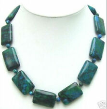 13x18mm Rectangle Genuine Natural MALACHITE Necklace 18""
