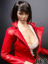 1//6 Scale TYM100 Female Black Leather Jacket Coat Clothes Fit 12/'/' PH TBL Figure