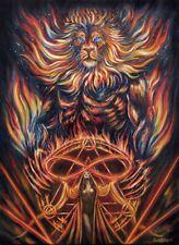 Fantasy Art Print Big Cat leo lion strength Astrology 78 tarot mage sorceress