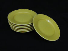 "7 William Sonoma Belvedere Saffron Salad Plates 9"" Portugal"