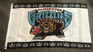 1994 VANCOUVER GRIZZLIES NBA ORIGINAL VINTAGE FULL-SIZE FLAG NEW SEALED IN BAG