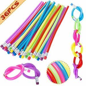 36 PCS Flexible Bendy Pencils Bendable Pencil Fun and Functional 7 Inch Long