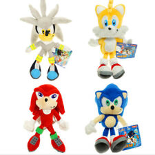 "4pcs Sonic The Hedgehog Tails Series 8"" Plush Doll Stuffed Animal Toy Rare Gift"