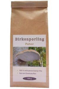 Birkenporling Pulver 100 Gramm Premium Großpackung aus Deutschland
