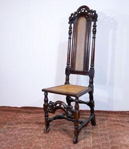 William & Mary beech chair, high back, circa 1695