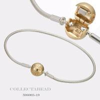 "Authentic Pandora Essence Sterling Silver & 14k Gold Bracelet 6.3"" 596003-16"