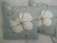 """BELICIA BY VOYAGE 1 PAIR OF 18"""" CUSHION COVERS - DOUBLE SIDED & PIPED!"""