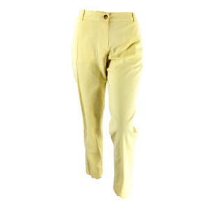 Talbots Size 8 Weekend Chino Pants Pale Yellow Super Soft Cotton New With Tags