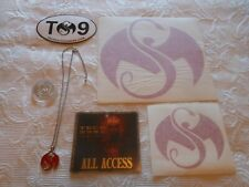 Tech N9Ne 9 Nine All Access Pass Stickers Necklace Strange Music Collector Coin