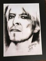 "David Bowie original Art S8 14"" x 11"" A4 Mounted Print"