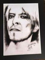 "David Bowie original Art S8 14"" x 11"" A4 Mounted Print"