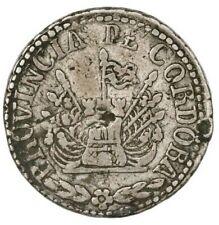 Cordoba, Argentina, 2 reales, 1849. Janson-57.7.1. Fine with toning