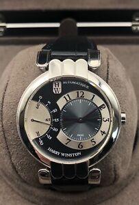 Harry Winston 18kt White Gold Automatic Retrograde Movement Watch