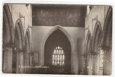 St Marys Church Interior John Wycliffe Lutterworth Leicestershire UK RP postcard
