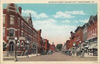 Postcard Mahoning Street Looking East Punxsutawney PA